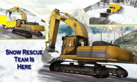 Snow Rescue op : Excavator 3D v 1.2 Мод (Unlocked)