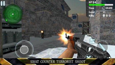 SWAT Counter Terrorist Shoot v 1.7 Мод (Infinite coins/Infinite ammo/Running Speed)