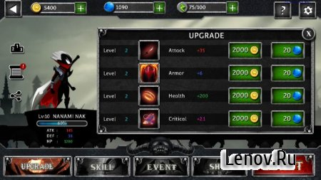 Stickman Legends - Ninja Warriors: Shadow War v 2.4.46 Мод (Free Shopping/One hit/God mode)