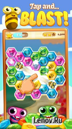 Bee Brilliant Blast v 1.15.0 Мод (Infinite Lives/Infinite Coins & More)