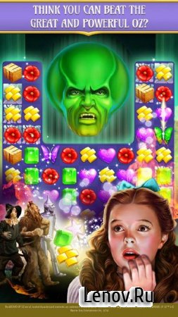 The Wizard of Oz Magic Match 3 v 1.0.3619 Мод (Infinite Lives Always Active/Infinite Boosters/100+ Moves)