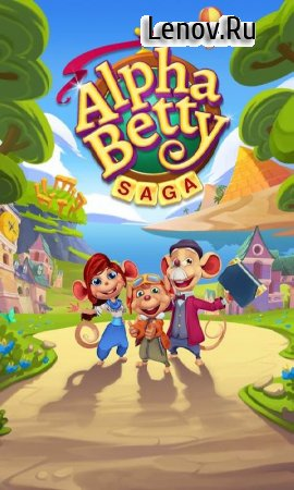 AlphaBetty Saga (обновлено v 1.7.2) Мод (100 plus moves/Unlimited Lives/Boosters/Unlock all episodes)