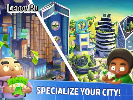 City Mania: Town Building Game v 1.9.1a Мод (много денег)