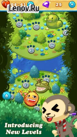 Monkey Fruits Crush v 2.2.1 Мод (Unlimited Lives/Gems & More)