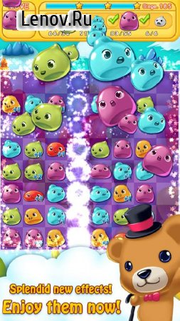Jelly Jelly Crush - In the sky v 2.3.9 Мод (Unlimited Lives/Gems & More)