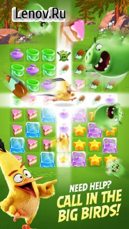 Angry Birds Match v 1.7.0 Мод (80 Moves/Unlimited Lives/Coins/Gems & More)