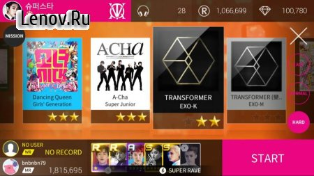 SuperStar SMTOWN v 2.10.4 Мод (Unlock All Mision/Group)