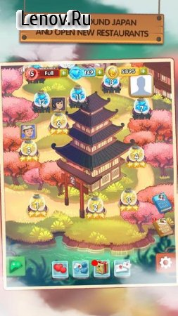 Japan Food Chain v 1.0.4 Мод (Unlimited Money/Diamonds/Lives)