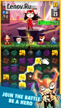 Pet Avenger Candy Superheroes v 1.2.5 Мод (x20 Damage/Unlimited Currency)