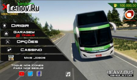 Heavy Bus Simulator (обновлено v 1.084) (Mod Money)
