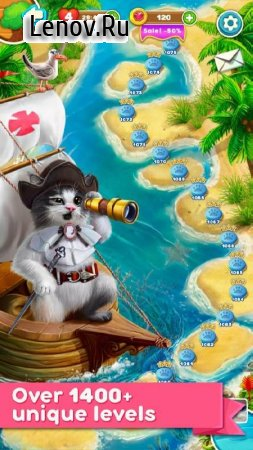 Cute Cats: Magic Adventure v 1.1.2 Мод (Unlimited Lives/Coins/Boosters)