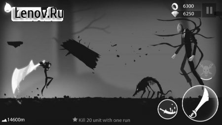 Stickman Run: Shadow Adventure v 1.2.10 Мод (Infinite Coins/Gems/No Attack Delay)
