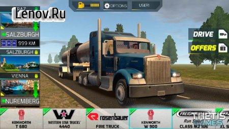 Truck Simulator Europe 2 v 0.26 Мод (много денег)
