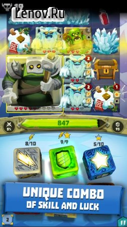 Dice Hunter: Quest of the Dicemancer v 4.2.1 Мод (Unlimited Health/Free Dices & More)