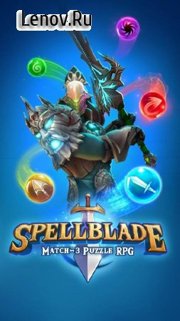 Spellblade: Match-3 Puzzle RPG v 0.9.17 Мод (gold/gems/no ads)