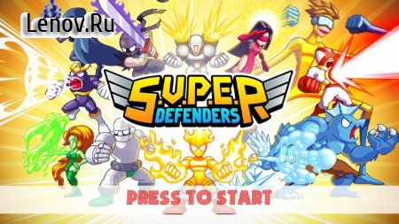 S.U.P.E.R - Super Defenders v 1.5 Мод (One-Hit Kill/Heroes Upgraded To Max)