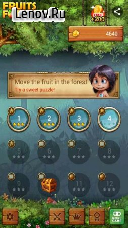 Fruits Forest : Rainbow Apple v 1.1.8 Мод (infinite coins/shop button/no ads)