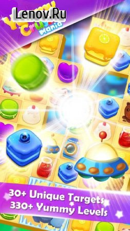 Yummy Crush Candy - Match 3 with Gummy Candies v 1.3.0 Мод (Infinite Lives/Coins/Diamonds)