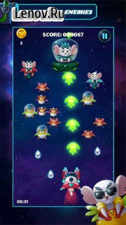 Cat Shooter – Space Attack v 2.0 Мод (999999 money/Unlock all ships/Remove ads)