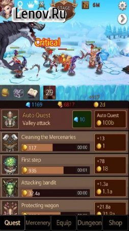 Dark Chaser : Idle (обновлено v 28.0) Мод (Infinite gem/medal/gold)