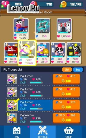 Piggy Royale v 1.1.2 Мод (Instant Kill/Unlimited Hearts/Meat/Coins/Free Shopping)
