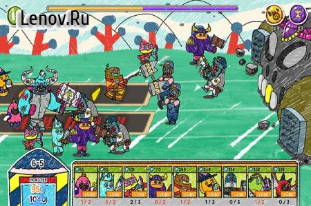 Monster VS Zombie v 1.6.7 Мод (Infinite gold/diamonds/Ads removed)