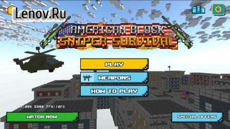 American Block Sniper Survival v 1.80 (GOD MODE/DUMB ENEMY/NO ADS)