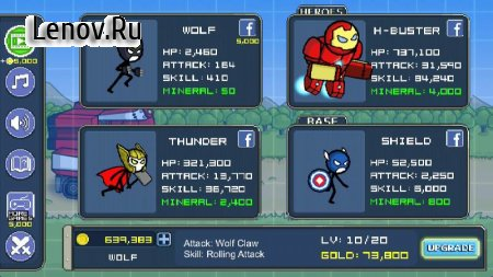HERO WARS: Super Stickman Defense v 1.0.7 (Mod Money & More)