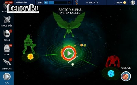 Space Pioneer – Shoot, build & rule the galaxy v 1.3.0 Мод (много денег)