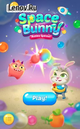 Bubble spinner : space bunny v 1.0.6 Мод (Unlimited Coins/Boosters/No Banner/No Ads)