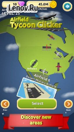 Airfield Tycoon Clicker Game v 1.0.5 Мод (Gold and gems never decrease)