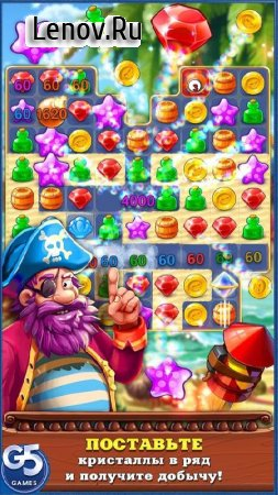 Pirates & Pearls ™: A Treasure Matching Puzzle v 1.11.1400 (Mod Lives)