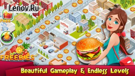 Cooking Games Kitchen Rising Cooking Chef Master v 1.09 Мод (Unlimited Coins/Lives/Gems/Double Coins Rewards)