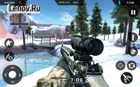 Winter Mountain Sniper - Modern Shooter Combat v 1.2.2 (Mod Money)