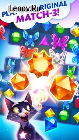 Bejeweled Stars v 2.23.1 Мод (Infinite Coin/Booster)