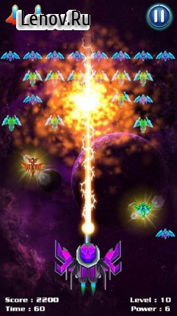 Galaxy Attack: Alien Shooter v 6.49 Мод (Infinite Crystals/Money)