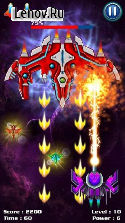 Galaxy Attack: Alien Shooter v 7.46 Мод (Infinite Crystals/Money)
