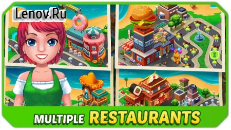 Kitchen Craze - Master Chef Cooking Game (обновлено v 1.5.2) Мод (High coin reward per level)