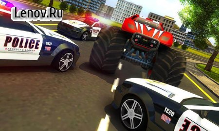 Police Chase Monster Car: City Cop Driver Escape v 1.0 (Mod Money)