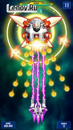 Space Shooter: GalaxyAttack v 1.485 Mod (Infinite Diamonds/Cards/Medal)