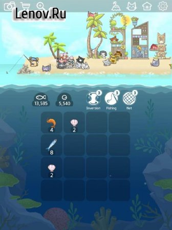 2048 Kitty Cat Island v 1.6.4 Мод (Free Shopping)