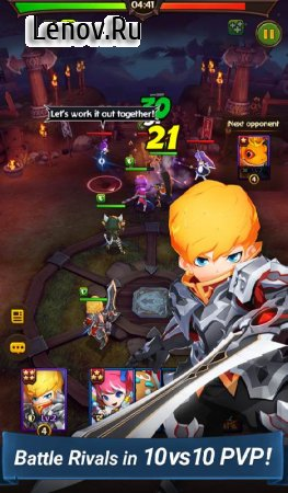 Hello Hero: Epic Battle v 2.1.3 Мод (Hp x10/Attack speed x5 & More)
