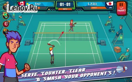 Super Stick Badminton v 1.1.0 (Mod Money)