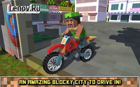 Blocky Moto Bike SIM: Summer Breeze v 1.2 Мод (Free Shopping)