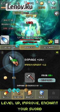One Combo Sword - Grow your Sword v 2.1.7 (Mod Money)