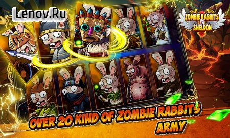 Zombie Rabbits vs Sheldon v 2.3 Мод (Unlimited Gold/diamonds/energy)