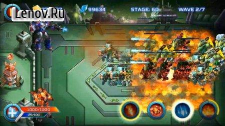 Robot Defense: Tower War v 1.1.3 Мод (Unlimited Gold/Diamond/Metal/Rune/Core)