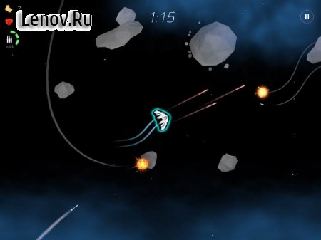 2 Minutes in Space - Missiles & Asteroids survival v 1.6.1 (Mod Money)