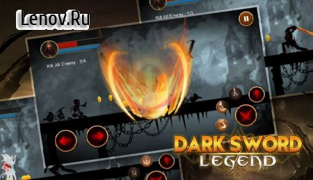 Dark Shadow Legend - Black Swordman Hero Fight v 1.5 (God Mode/One Hit Kill)