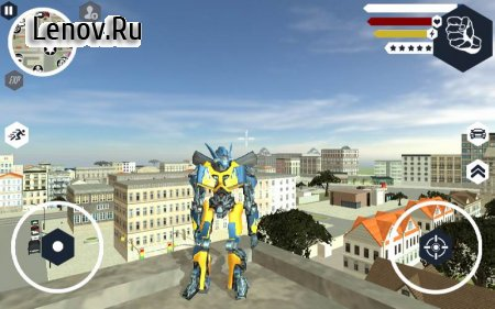 Muscle Car Robot v 1.0 Мод (Large number of levels/skill points)